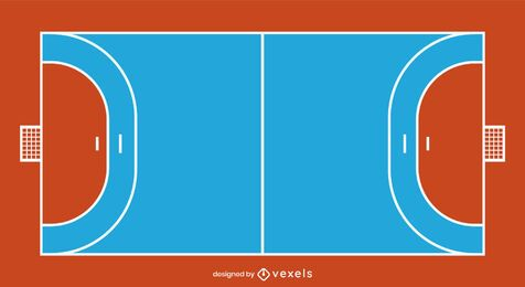 Flat Handball Court Design