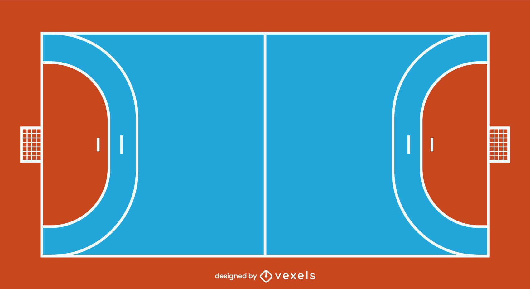 Flat Handball Court Design