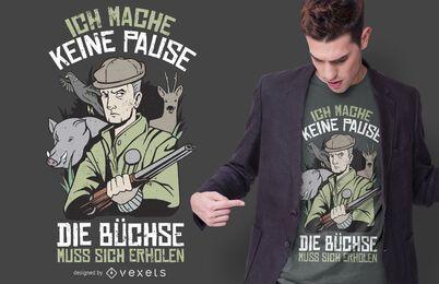 Design alemão do t-shirt das citações do caçador