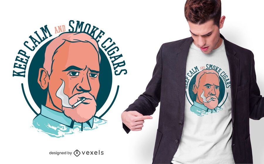 Smoke Cigars T-shirt Design