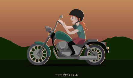 Chica motocicleta 2