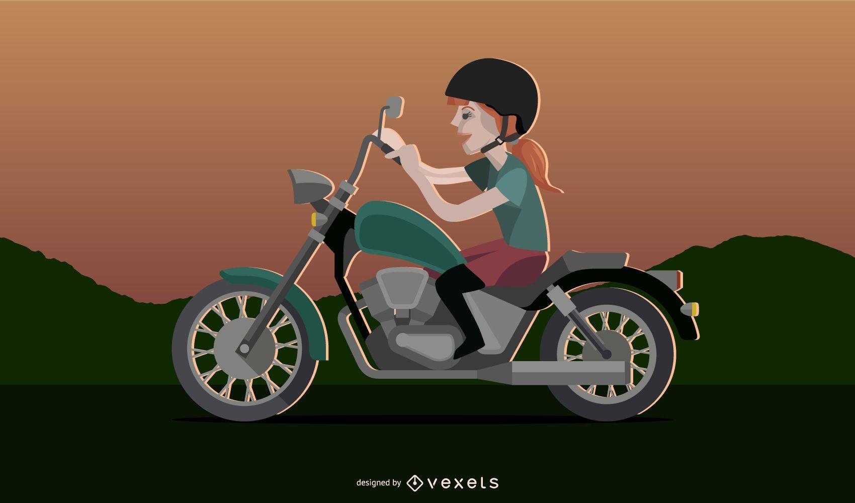 Motorcycle girl 2