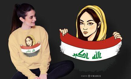 Diseño de camiseta de Irak Girl