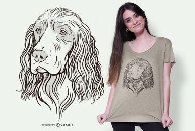 cocker illustration t-shirt design