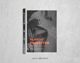 plastic protector mockup design