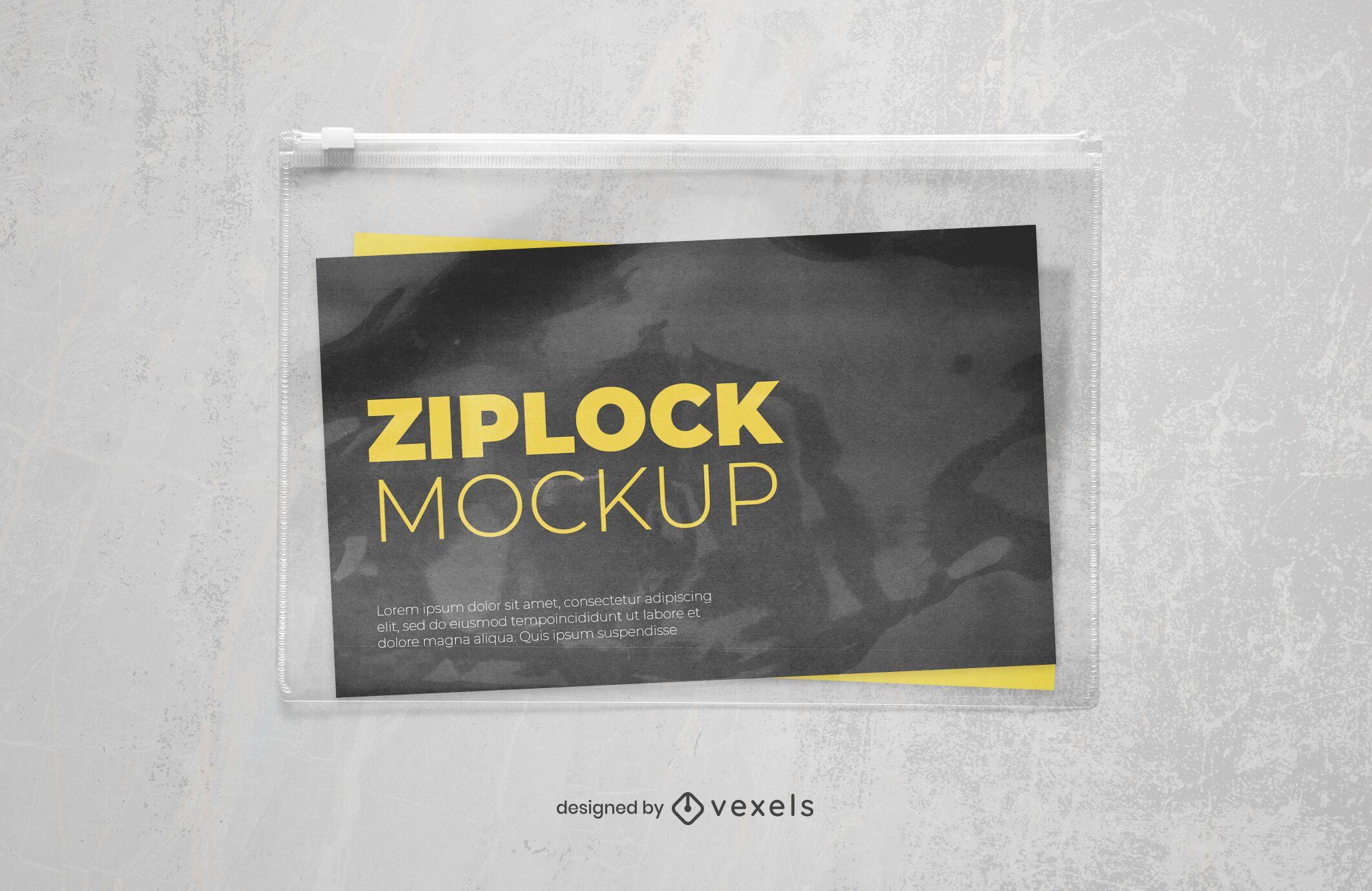 plastic ziplock mockup design