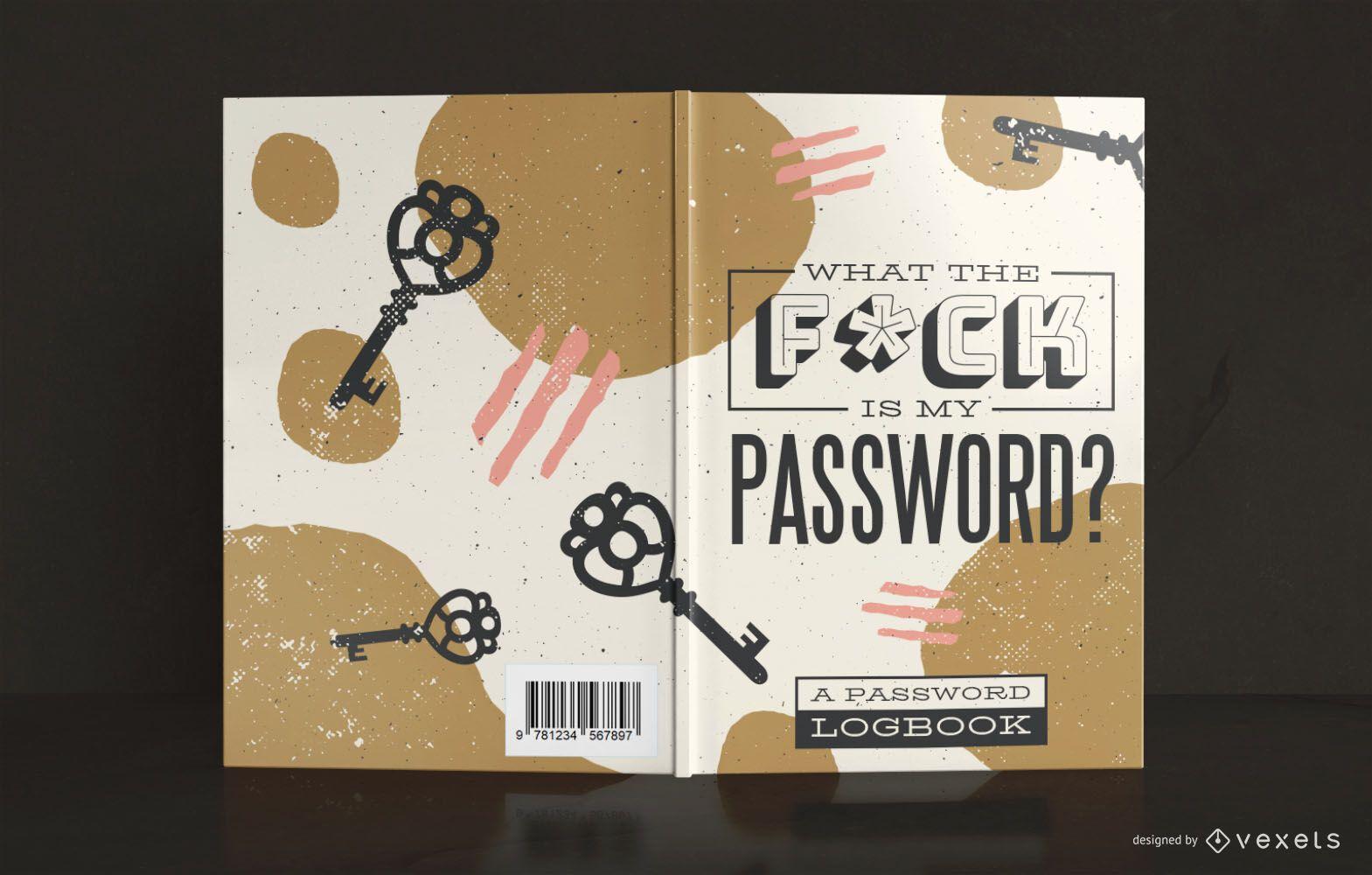 Diseño de portada de libro de registro de contraseña