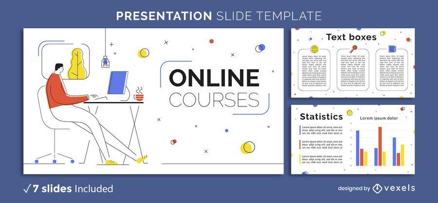Plantilla de presentación de educación en línea