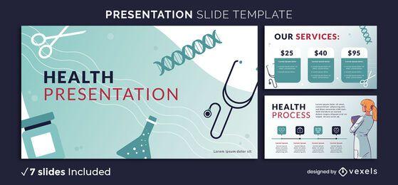 Plantilla de presentación de salud médica
