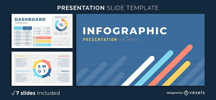 Plantilla de presentación de elementos de infografía
