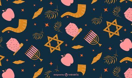 Diseño de patrón de Rosh Hashaná