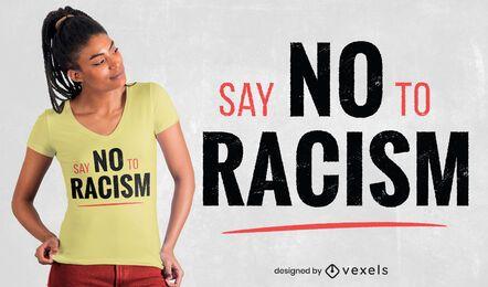 diseño de camiseta sin racismo