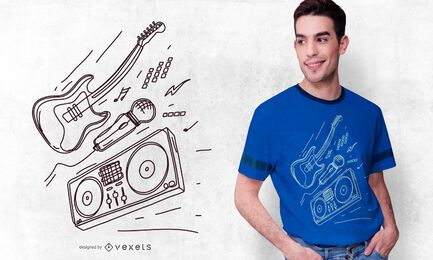 Conjunto de DJs com design de camiseta