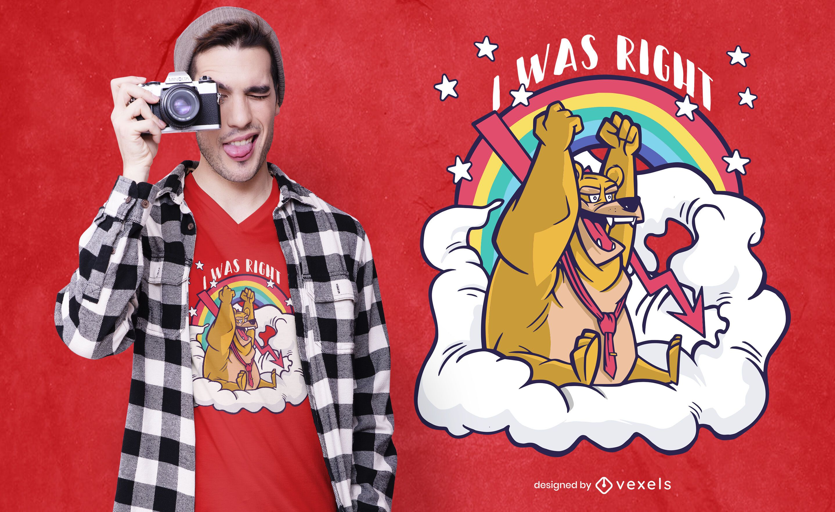 i was right bear t-shirt