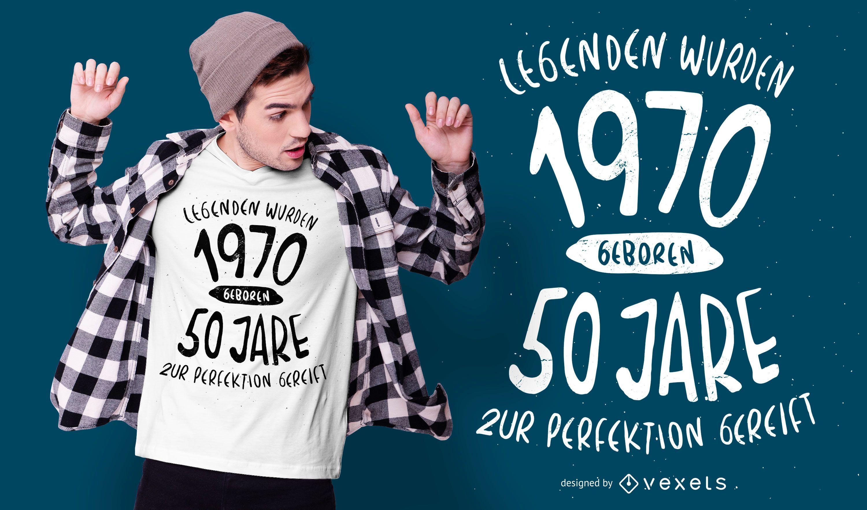 Nasceu em 1970 com design alemão de camisetas