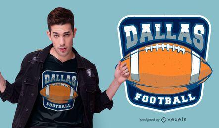 design de t-shirt de futebol de dallas