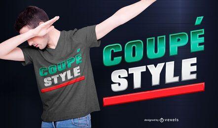 diseño de camiseta estilo coupé