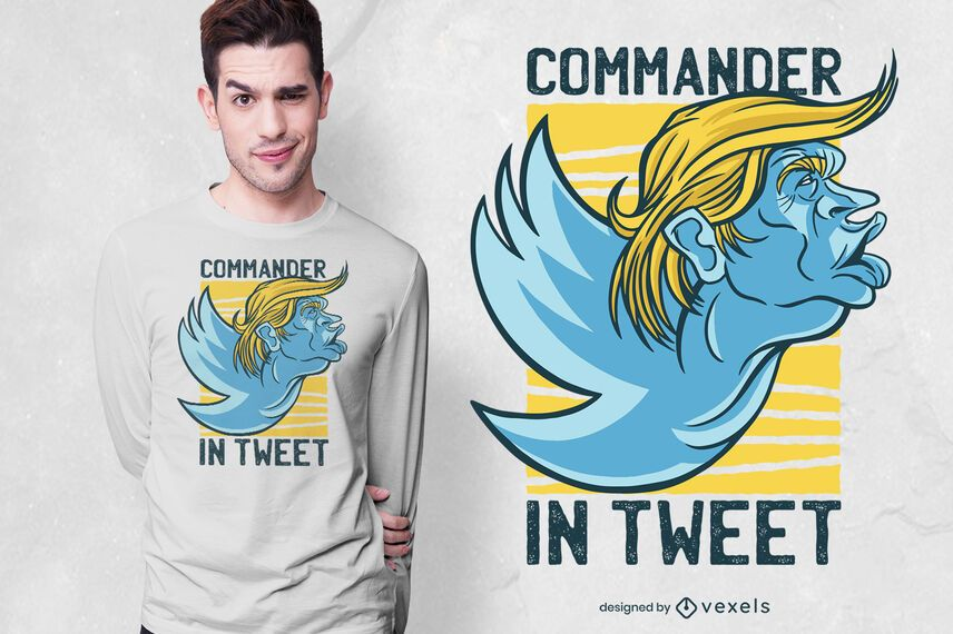 design de t-shirt do twitter trunfo