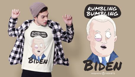 diseño de camiseta de dibujos animados biden