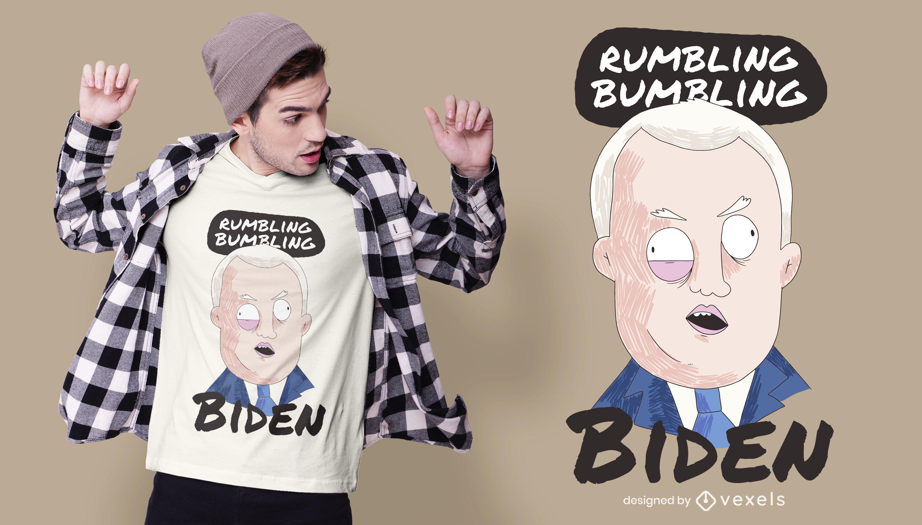 cartoon biden t-shirt design