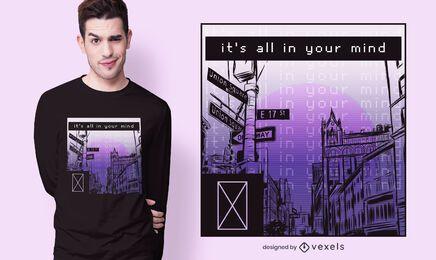 tudo em sua mente design de t-shirt
