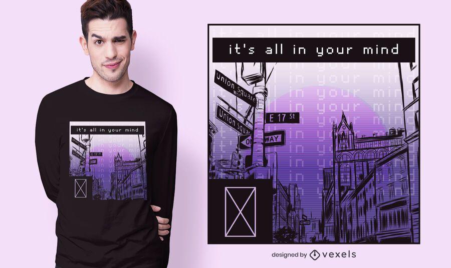diseño de camiseta todo en tu mente