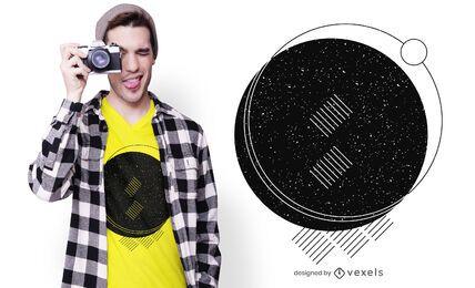 Diseño de camiseta abstracto geométrico minimalista