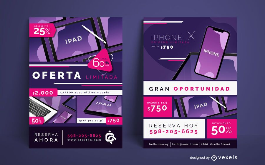 Tech Device Sale Poster Set