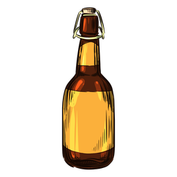 Alcohol bottle drawn