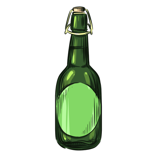 Alcohol bottle drawn green