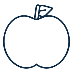 Apple simple icon stroke