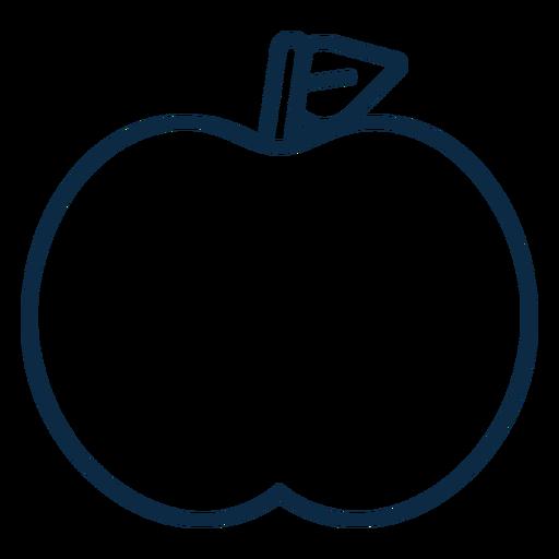 Trazo de icono simple de Apple