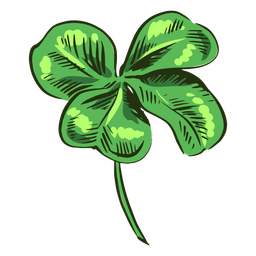 Awesome clover leaf drawing