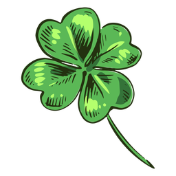 Awesome clover leaf drawn