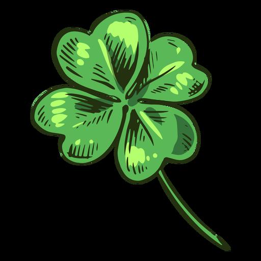 Awesome clover leaf drawn