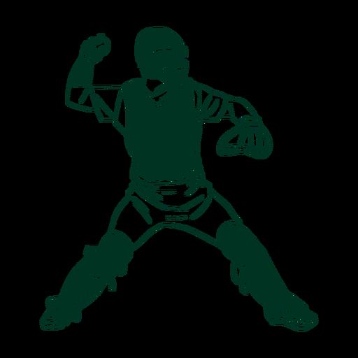 Baseball player drawn