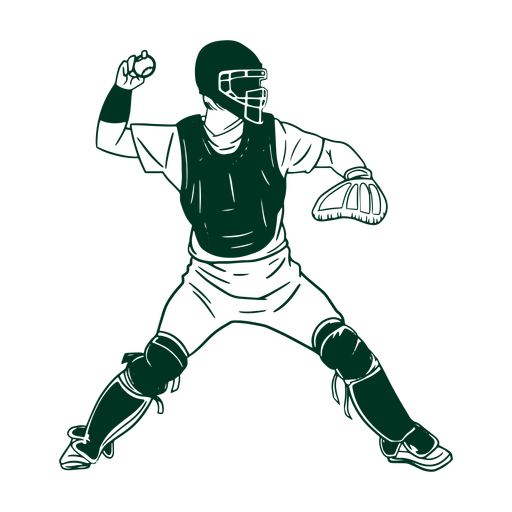 Jugador de beisbol dibujado Transparent PNG