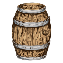 Beer barrel illustration beer