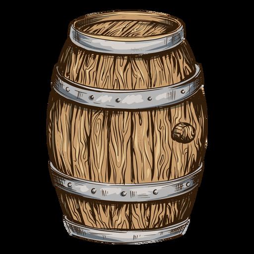 Ilustración de barril de cerveza cerveza