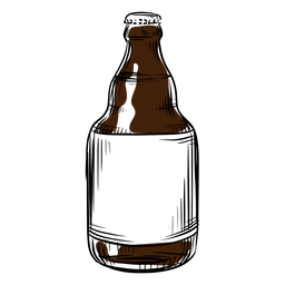 Beer bottle drawn