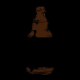 Botella de cerveza dibujada