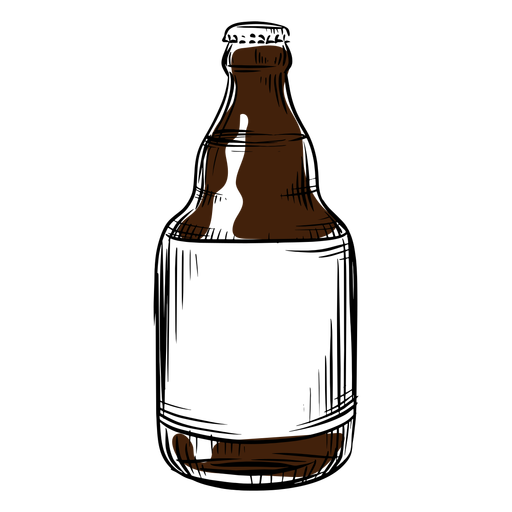 Beer bottle drawn