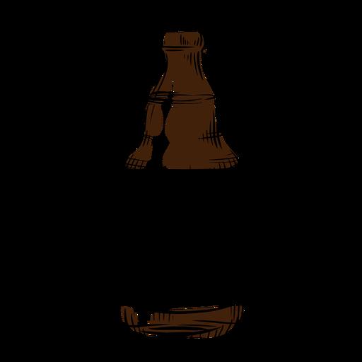 Bierflasche gezogen