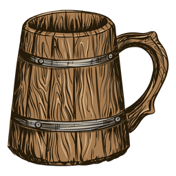 Beer in barrel mug