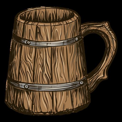 Beer in barrel mug