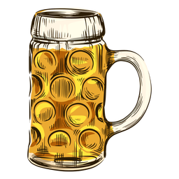Beer in cool mug