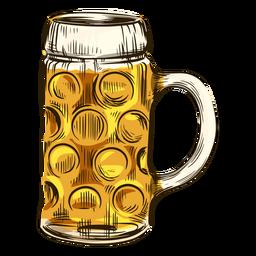 Cerveza en taza fría
