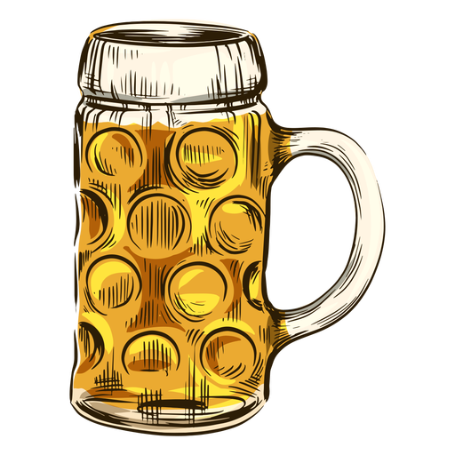 Cerveza en taza fresca