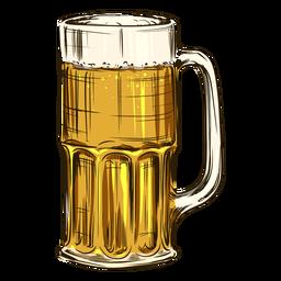 Cerveza en taza alta