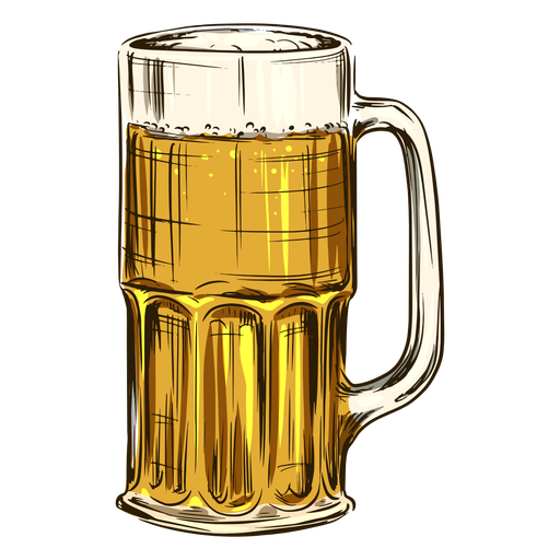 Beer in tall mug Transparent PNG